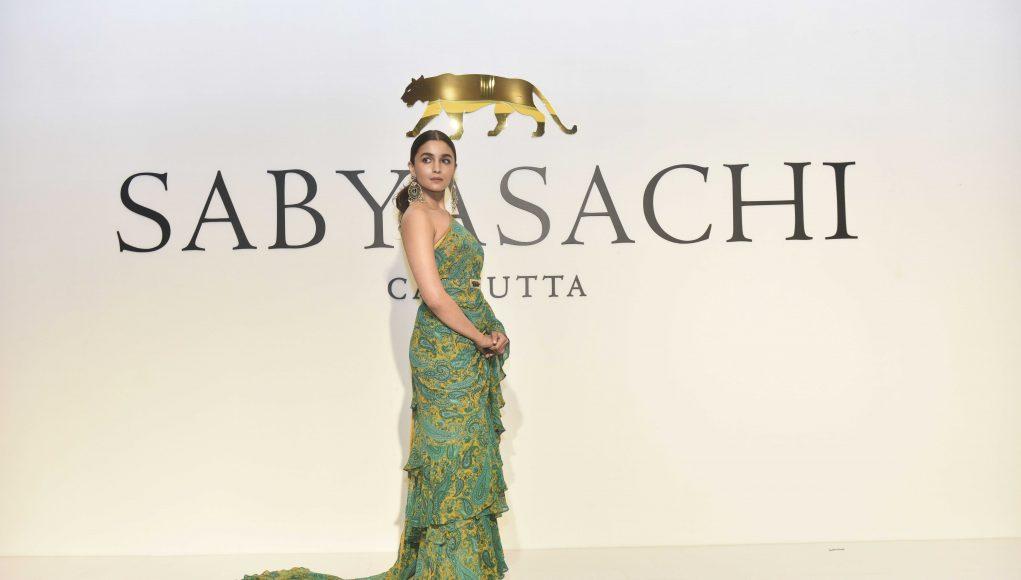 Alia Bhatt at Sabyasachi event.