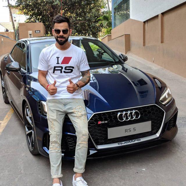 Virat Kohli with Audi RS5 Instagram