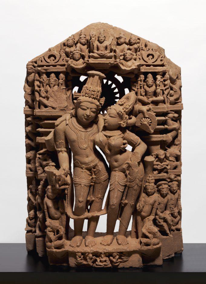 The divine couple Lakshmi and Vishnu