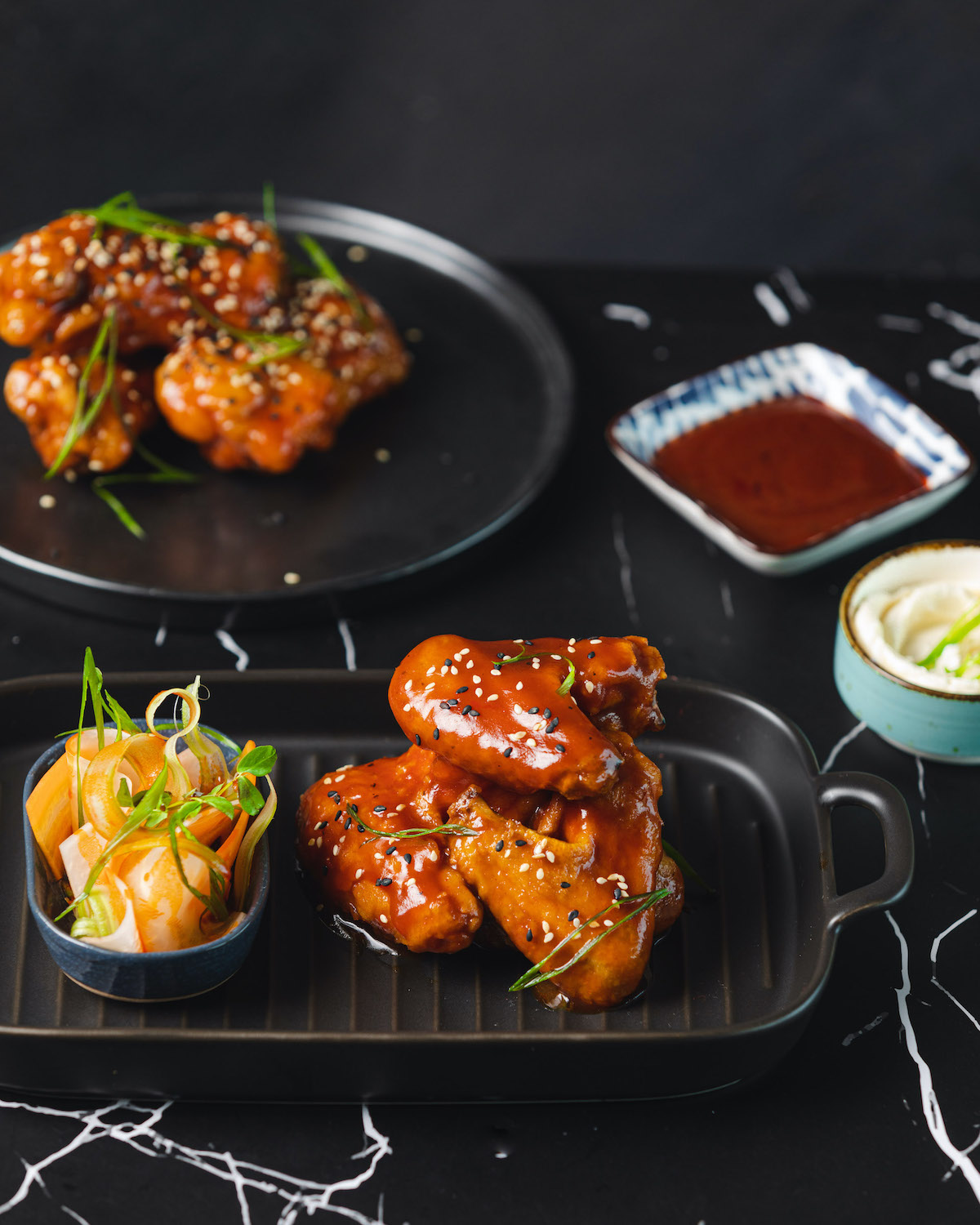 Bhut Jolokia Spiced Chicken Wings with Chive Sour Cream - Seven Kitchens, The St. Regis Mumbai 1
